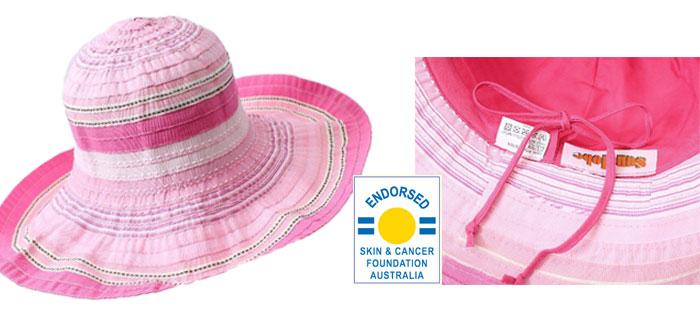 UVカット帽子・子供用つば広帽画像