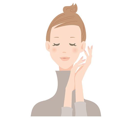 服で静電気対策・タートルネックのヘアスタイル画像