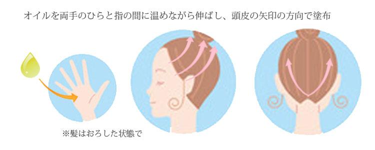 頭皮のオイルマッサージ&トリートメント方法