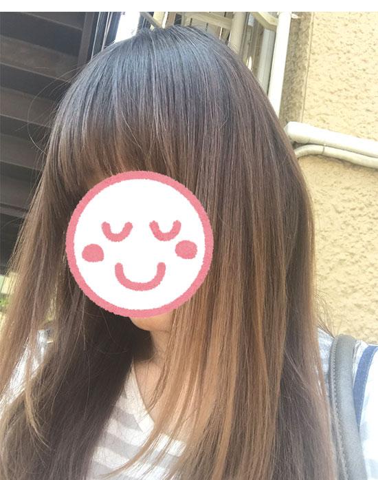 ルメントUVスプレー・髪の毛に使用した写真2
