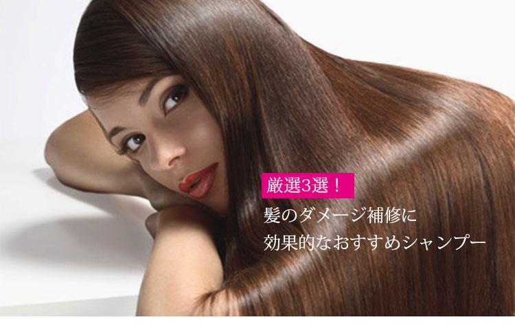 髪のダメージ補修におすすめのシャンプー