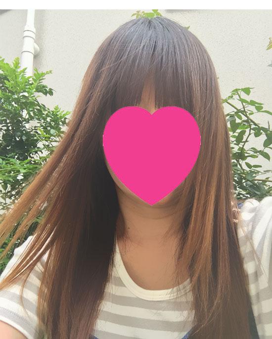 チャップアップ ヘアオイル使用後の髪の状態1