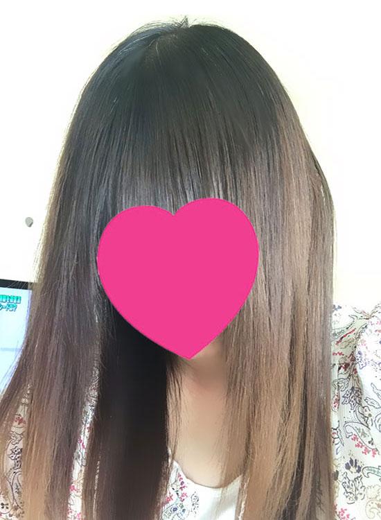 チャップアップ ヘアオイル使用後の髪の状態2
