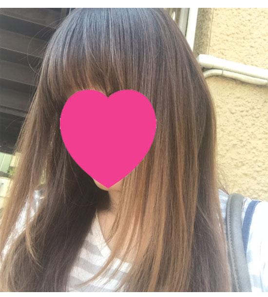 チャップアップ ヘアオイル使用後の髪の状態3