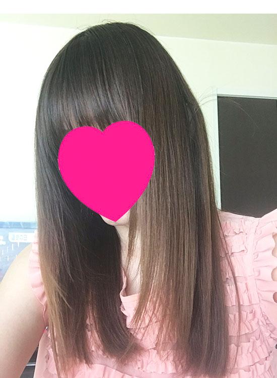 メイソンピアソンを使用後の髪の毛