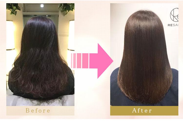 マツコ会議放映!髪質改善トリートメントの施術前後の写真