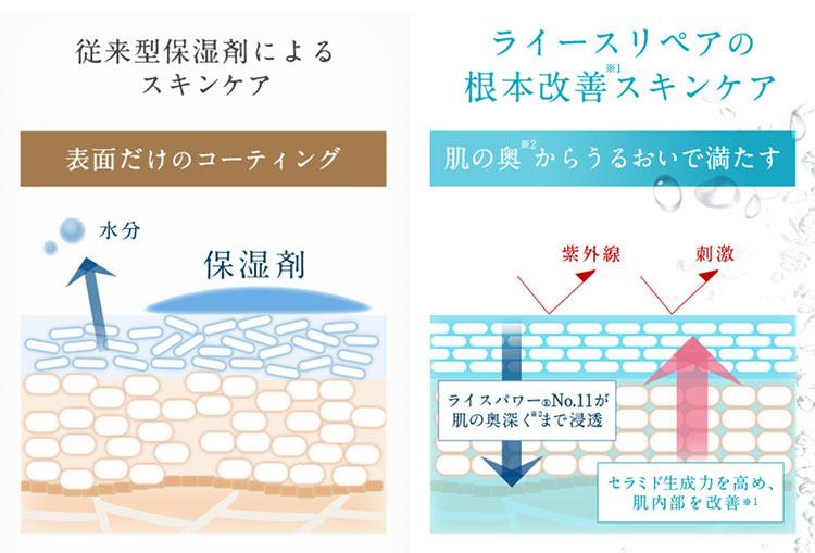 ライースリペアの効果を表すイメージ図