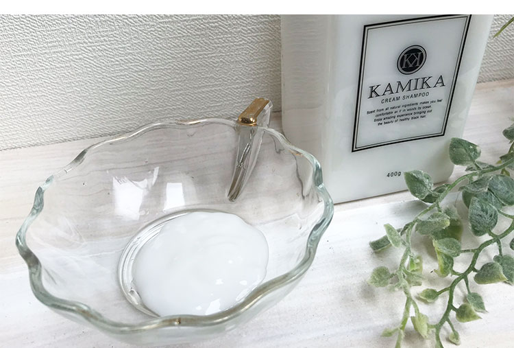 KAMIKA(カミカ)シャンプーのテクスチャー画像