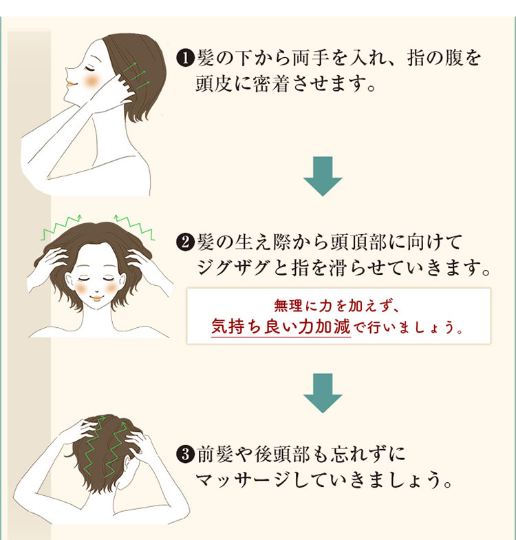KAMIKA(カミカ)シャンプーを使ったヘッドマッサージの方法