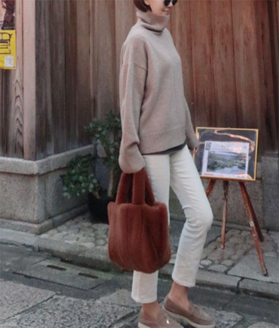 STORYNINE(ストーリーナイン)ストレッチ起毛パンツ ・商品画像