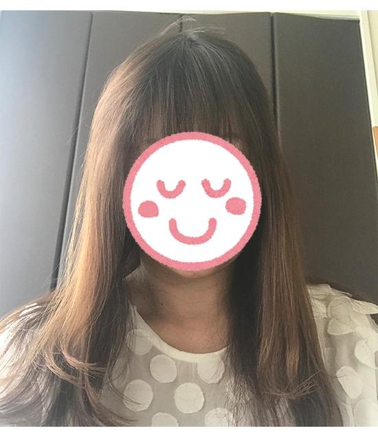 アクティバート・SCスカルプローション使用後の髪1