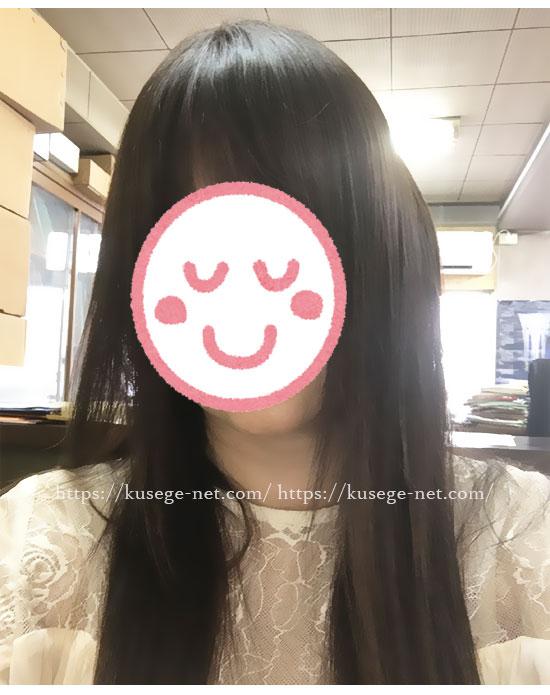 ミムラ・シックスマジッククリーム使用後の髪(全体)