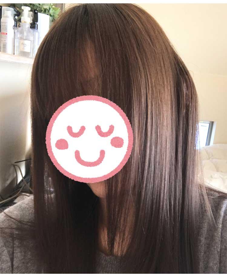 絹女(KINUJO)使用後の画像・ツヤ