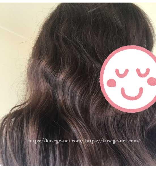 くせ毛のうねりが出た状態1